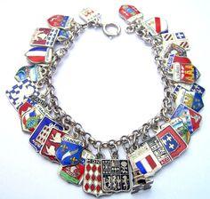 echarmony.com - France travel shield charm bracelet