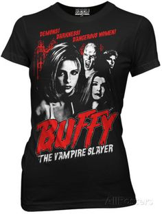 Juniors: Buffy The Vampire Slayer - Cult Poster Shirts at AllPosters.com
