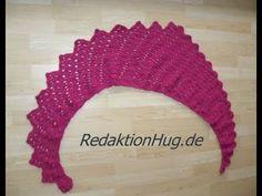 Häkeln - Schal Tuch Drachenschal Drachenschwanz (Entwurf Redaktion Hug)