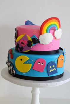 80s Theme Birthday Cake - this is so cute... someone please buy this for my 30th birthday in um...3 years and 6 months please!