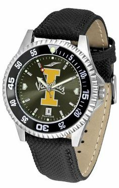 Idaho Vandals - University Of Competitor Anochrome- Poly/leather Band W/ Colored Bezel - Men's