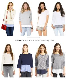 Doubled Up: Layered Tops | http://www.viewfrom5ft2.com