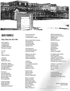 A Description Of Day One In an 18 x 80 Foot Dormitory For A Youthful Offender in 1980 – A Broadside Poem By Jack Varnell -