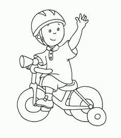 kleurplaat op de fiets