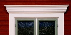 Modell C Exterior Trim, Exterior Paint, Entrance Design, Cozy Cottage, Home And Living, Windows, Panel, Painting, Inspiration