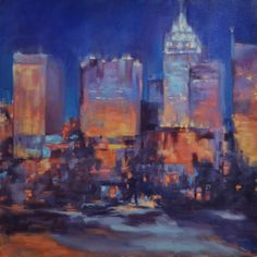 Dressed and Ready-nightscape of Charlotte by Dottie #nightsceneofcharlottenc #uptowncharlotte