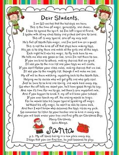 Letters From Santa about your Elf on the Shelf - Holiday Elf ...