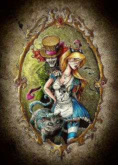 Cats Drawing Tattoo Alice In Wonderland Ideas Dark Alice In Wonderland, Alice In Wonderland Drawings, Arte Horror, Horror Art, Alice Madness, Fairytale Fantasies, Gothic Art, Cartoon Art, Character Art