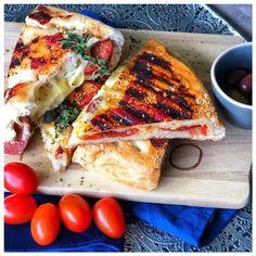 Sucuk Panini mit Kaese l Sucuklu Toast Subway Sandwich, Dips, Vegetable Pizza, Pasta, Snacks, Vegetables, Burger, Jamie Oliver, Dessert