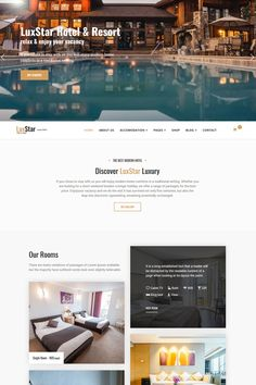 Hotel & Resort Booking Joomla Template is based on Helix Framework and SP Page Builder PRO as builder, Layer Slider and for ecommerce LuxStar Hotel Web Design Software, Joomla Templates, Change Image, Hotel Motel, Template Site, Poster Design Inspiration, Change Background, Social Media Design