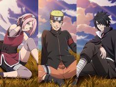 Honestly they became really good shinobi's sakura still annoys the freak out of me but not as much in boruto Naruto Team 7, Naruto Vs Sasuke, Anime Naruto, Naruto Girls, Naruto Art, Manga Anime, Sakura Haruno, Sakura And Sasuke, Sakura Sakura