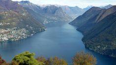Le Lago di Lugano / Ceresio vu depuis le Monte San Salvatore