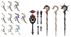 These are some staffs that some wizards and mages use in the final fantasy franchise.  (finalfantasy.wikia, 2013)