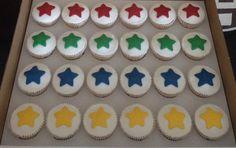 Multi Coloured Star Cupcakes