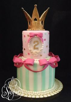 Fancy Cakes, Cute Cakes, Crown Cake, Birthday Cake Girls, Birthday Cakes, Sweet 16 Cakes, Occasion Cakes, Girl Cakes, Love Cake