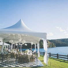 Pete and Amanda's Lakeside Reception Space...