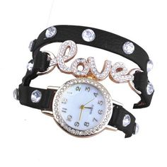 nice Women Love Wrap Around Synthetic Leather Bracelet Wrist Watch - For Sale Check more at http://shipperscentral.com/wp/product/women-love-wrap-around-synthetic-leather-bracelet-wrist-watch-for-sale/