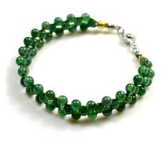 Elegant Damen Jade Armband , 6,5 Zoll, Grünen Jade Beads 3 mm, - Fortune Feng Shui Jade Schmuck von Feng Shui & Fortune Jewelry, http://www.amazon.de/dp/B00F1RGADI/ref=cm_sw_r_pi_dp_EYtnsb02MMCZJ