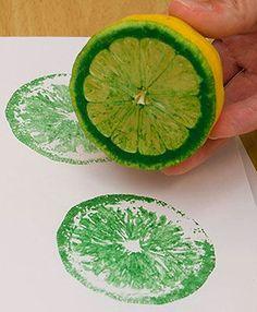 Carimbo com metade de limão