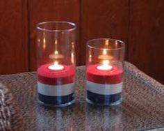 DIY 4th of July (or any other occasion) sand candle holders
