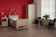 Zorgbed Houston Comfortabele verpleegbedden voor de zorg thuis, bejaardenhuis, inrichting of in het zorgcentrum Hoog laag verstelling, gebruiksvriendelijke bediening, bed papagaai mogelijk