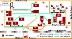 Florham Campus Schematic Map - Fairleigh Dickinson University (FDU) Park Avenue, Business Management, University, Floor Plans, Map, Maps, Peta, Community College, Floor Plan Drawing