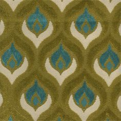 This is a beautiful turquoise and green peacock feather chenille upholstery fabric. Ideal as decorative pillows or great for upholstering furniture. Fabric suitable for many home decorating applications. Dry cleaning recommended. Compared at $78.95.Minimum 1 yard cut.Samples not available for this item.Width:54 inV.Repeat: 5.13 inH.Repeat: 3.13 in73% viscose/7% polyV117