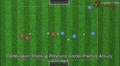 Combination Shooting Rotations Soccer Practice Activity S71. Free Soccer Coaching Awareness Ebook: http://coachestrainingroom.com/ebook  https://www.youtube.com/watch?v=5XZE_c2zPeI