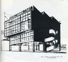 RNDRD is a partial index of architectural drawings and models scanned from design publications throughout the century. Diego Rivera, Perspective Drawing, International Style, Architectural Drawings, Le Corbusier, Futurism, Modernism, Modern Architecture, Louvre