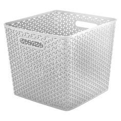 y weave large storage bin white room essentials true white - Large Storage Bins