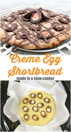 Did you know you can do your Easter baking in the slow cooker? Get the recipe for Slow Cooker Creme Egg Shortbread via Egg Recipes, Baking Recipes, Dessert Recipes, Baking Ideas, Bread Recipes, Best Slow Cooker, Slow Cooker Recipes, Crockpot Recipes, Easy Bake Oven