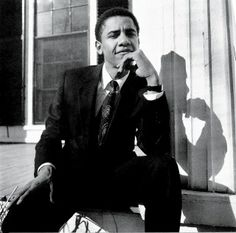 Barack Obama, 28, photographed in Cambridge, Massachusetts, for Vanity Fair's June 1990 issue, after being elected president of the Harvard Law Review.