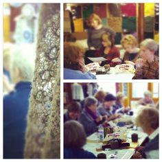 Gudrun Johnston lace class Shetland Wool Week 2012