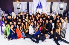 Indian couple and their friends photography at wedding reception http://www.maharaniweddings.com/gallery/photo/105476 @aaroneye