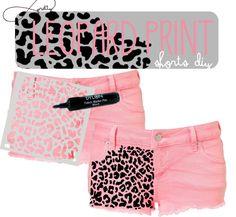Infinite Pretty: Leopard Print Shorts DIY ... ADORABLE