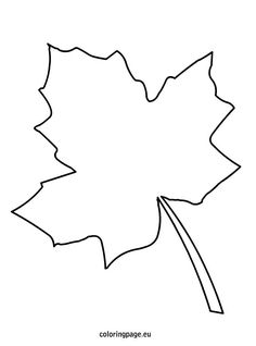 Maple Leaf  Sugar Maple Leaf Picture Coloring Page  Tattoo ref