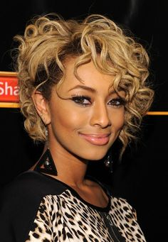 African American Curly Bob Haircuts for Women with Blonde Hair