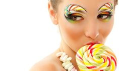 Photo about Woman licks candy with beautiful make-up isolated on white background. Image of lollipop, happy, lady - 24750373 Candy Girls, Candy Theme, Candy Art, Rock Candy, Candy Costumes, Candy Makeup, Make Up Art, Hair Shows, Light Hair