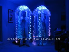 Prize-Winning Homemade Glowing Jellyfish Costumes… Coolest Online Halloween Costume Contest