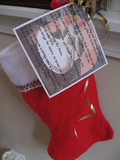 Stocking for Jesus - such a great idea for reminding us about the reason for the season.
