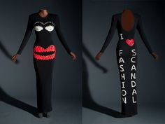 Patrick Kelly (France), 'I Love Fashion Scandal' evening dress (and details). Appeared in 'Fashion Scandal.' Photograph by John Alderson © Chicago Historical Society. I Love Fashion, Paris Fashion, Fashion Design, Chicago History Museum, Apparel Design, Fashion History, Black Girl Magic, Vintage Fashion, Dresses For Work