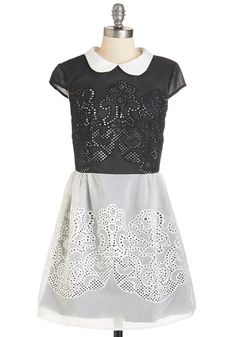 Swirls Unfurl Dress in Black | Mod Retro Vintage Dresses | ModCloth.com