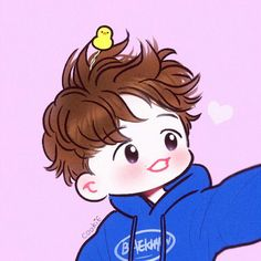 Baekhyun <credits to owner> Baekhyun Fanart, Chanbaek Fanart, Jungkook Fanart, Bts Chibi, Anime Chibi, Exo Cartoon, Exo Stickers, Exo Anime, Exo Fan Art