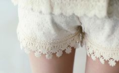 Crocheted Lacey Shorts!