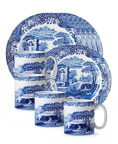 "Spode ""Blue Italian"" 12-Piece Dinnerware Set - Casual Dinnerware - Dining & Entertaining - Macy's,   Reg. $332.00   Sale $219.99    Sale ends 12/22/12 Pricing Policy       EXTRA 15% OFF Enjoy 15% off select merchandise! CODE: PERFCT details"