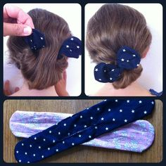 Tournicoti tournicota The tutorial The babbling tavern Vintage Accessories, Hair Accessories, Sewing Online, Hair Knot, Hair Today, Diy Crafts To Sell, Her Hair, Headbands, Barrettes