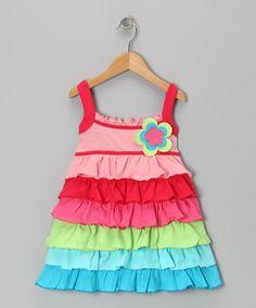 Rainbow Ruffle Dress - Toddler & Girls