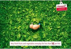 "Champion ""fresh fruit and vegetables"" ad campaign"