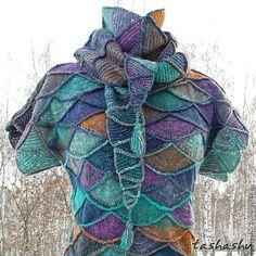 """Купить Вязаное платье с бактусом """"Гребень Ехо"""". - звериная расцветка, вязаное платье, вязаный пэчворк"""