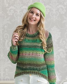 "Fun: Sweater with dipped fronts From the new Noro book ""Boutique"" by Jenny Watson."